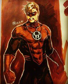 axiom_lanterns • Red Lantern Hal Jordan