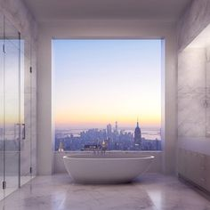 if i wasn't renting a 1-bedroom ... i would have a view like this and an entire room for my bathtub