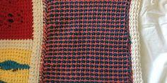 An Afghan Stitch Sampler – Block 47 (Bi-color Stripes)   Quilts To Crochet