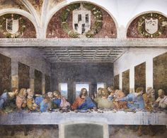 """THE LAST SUPPER"" or ""Il Cenacolo"" by Leonardo da Vinci is a must see at the Church of Santa Maria delle Grazie in Milan, Italy.  http://www.wheremilan.com/site/?p=10071"