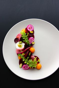 Roasted Beetroot & Pickled French Melon Salad -- Beautiful!