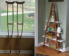 Repurposed crutches - Olivia Droney
