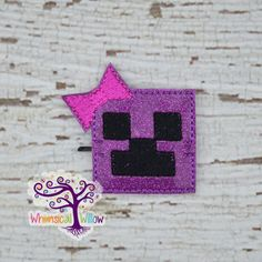 Looking for a quick way to spice up your hair? Just slip on on this adorable bobby buddy and youre all set!  Made of purple glitter vinyl and
