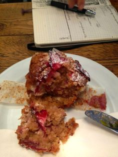 Caravelle freshly baked strawberry and ricotta cheese muffin!!