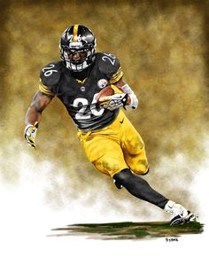 Le'Veon Bell Pittsburgh Steelers by James Byrne.