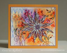 Corine's Gallery: Brusho and Starflower stamp (Impression Obsession)
