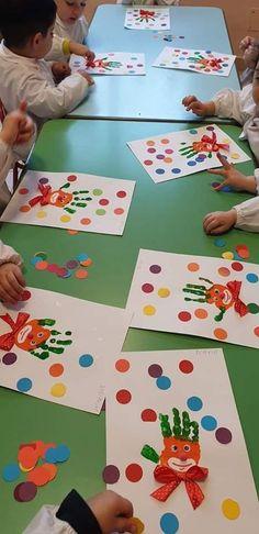 Kids Crafts, Clown Crafts, Carnival Crafts, Kids Carnival, Toddler Crafts, Projects For Kids, Diy For Kids, Kindergarten Crafts, Preschool Crafts