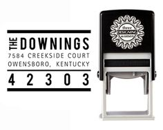 Self-Inking Personalized Rectangle Address Stamp - CS3653 from The Cute Kiwi