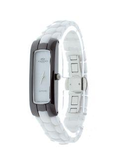 123f81b1665 Oniss ON8045-L WT Women s Watch Slim Burgundy Case White Ceramic Band