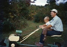 Lawn mowing in the 50s
