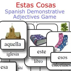 A unique way to practice demonstrative adjectives in Spanish -- all 12 of them!  only $1.95