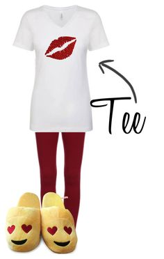 """Tee"" by kaylan-fashion on Polyvore featuring women's clothing, women, female, woman, misses and juniors"