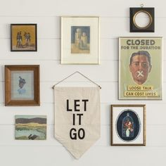 LET IT GO wall banner by Schoolhouse.
