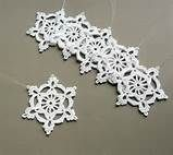 Crochet Snowflake Ornaments --