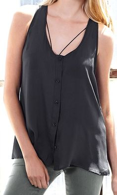 Luxurious button-front tank made from gorgeous, 100% sustainable silk