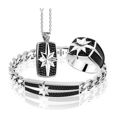 Bracelets For Men, Fashion Bracelets, Fashion Rings, Man Set, Gems Jewelry, Cross Pendant, Silver Color, Jewelry Design, Mens Fashion