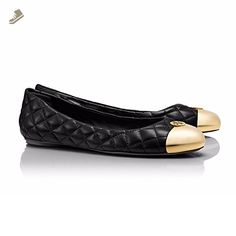 TORY BURCH KAITLIN QUILTED BALLET FLAT SHOES BLACK SIZE 9 - Tory burch flats for women (*Amazon Partner-Link)