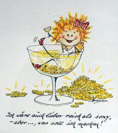 www.deko-unlimited.de - Passepartout Bild Heidemarie Brosien Lieber reich als sexy
