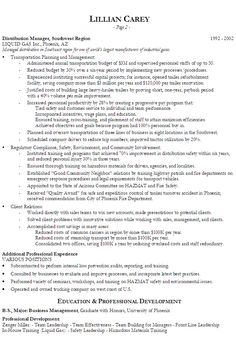senior logistic management resume this resume was written by one of the professional resume writers - Military Resume Writers