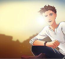 «Damien Evening Sun» de Anna Blue