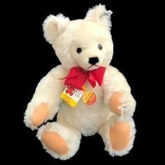 "Vintage 1983 Steiff White Mohair Original Teddy Bear Teddybar #0203/41 15"" Tags #Steiff #AllOccasion Bear Mask, Steiff Teddy Bear, Puppet Toys, Dog Attack, Cabbage Patch Kids, Novelty Items, Hand Puppets, Happy Anniversary, Kids Toys"