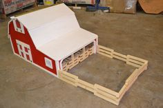 Items similar to Toy Barn on Etsy Wooden Toy Barn, Wooden Diy, Barn Wood, Toy Horse Stable, Woodworking Bench For Sale, Woodworking Plans, Kids Barn, Loft Plan, Mini Doll House