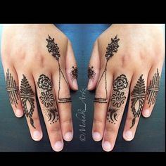 39 Brilliant Mehndi Designs for Fingers That You Can Get For a Simple Look - Mehndi YoYo Mehndi Designs For Fingers, Henna Designs, Finger Tats, Hand Henna, Hand Tattoos, Tatting, Simple, Art, Henna Art Designs