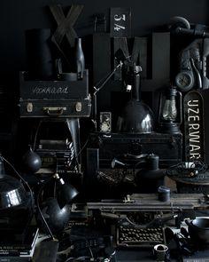 Black interior.  Photo by Jeroen van der Spek