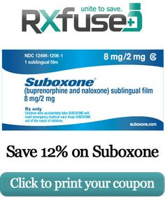 Suboxone coupon from:    http://rxfuse.org/coupons/suboxone/  http://www.medsavercard.com/suboxone-coupons-discounts/