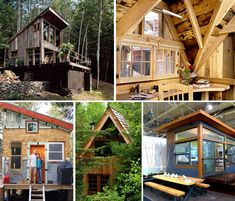Whether you're dreaming about a rustic hand-built cabin in the woods or drooling over modern prefab designs, these 13 cabins will give you some inspiration to downsize your life. Small and often portable, these homes can be placed just about anywhere, and many were constructed on the cheap by owners with little prior building experience.