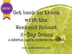 The Weekend Reboot... Available NOW!