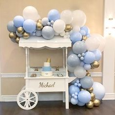 Our balloons are just so perfect to decorate Thank You ladies 💙 Diy Party Decorations, Balloon Decorations, Birthday Decorations, Baby Shower Decorations, Baby Shower Gender Reveal, Baby Shower Themes, Travel Baby Showers, Sweet Carts, Baby Dedication