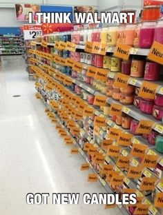 funny caption photo i think walmart got new candles