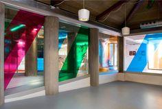 INTERIOR Vibrant new identity for Vicente Aleixandre library in Badia del Vallès, Spain. Designed by studio Txell Gràcia via Plenty of Colour