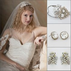 In love with our new bridal headpiece from Cheryl KIng Couture.  This fabulous bridal headpiece offers both, boho chic style as well as vintage glamour. https://perfectdetails.com/lucinda.htm