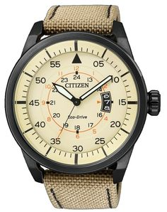 Montre Citizen Aviator Aw1365-19p Homme Sahara: Amazon.fr: Montres