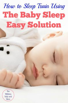 When I became a mom, I hadn't even heard of baby sleep training. I had read every article I thought I could read, but that's just not enough. The Baby Sleep Easy Solution is essential to building healthy sleep habits.