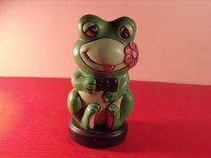 Vintage Frog/pen holder frog/teeth brash holder/ frog by RetroBuy, $12.90