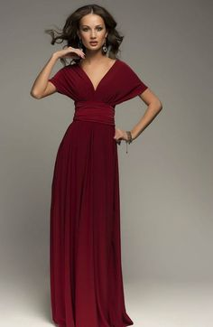 Burgundy Infinity Dress Bridesmaid Dress Wrap by Dioriss on Etsy