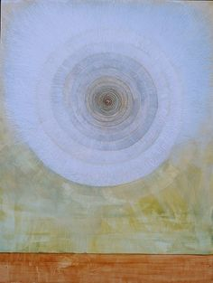 """Ruth Ansel - Cloud Spiral 2012 egg tempera on panel - 24"""" x !8"""""""