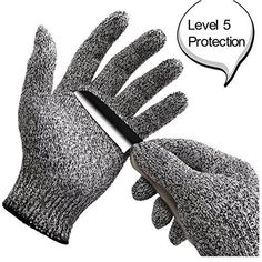 Garden Sliced Anti-vibration Safety Gloves 2 Double Cut Resistant Heat-resistant Work Gloves Hand Protection Level 5 Kitchen