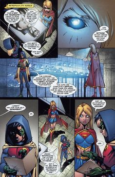 Supergirl and Damian Wayne<<Damian aka loveable little brat