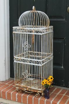 Victorian bird cage perfect for a vintage wedding- Southern Vintage Rentals