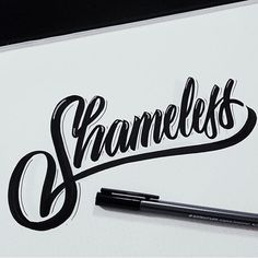 "#shameless. By @ghostfacerillah. - Tag us and use ""#50words"" for a regram. -  #noshame #shame #typography #lettering #calligraphy #typeface #font #customtype #customlettering #handlettering #type #script #handmadefont #creative #design #sketch #inspiration"