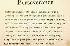 Perseverance quote. Great one !