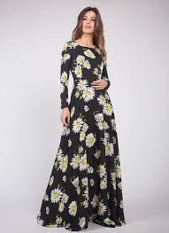 Resultado de imagen para vestido soleras estampadas largas