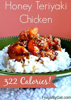 Made for dinner tonight and it was delicious!    Better than takeout Honey Teriyaki Chicken Recipe| Only 322 calories!