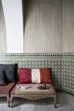 Moroccan textiles and tiles