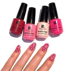 Red Carpet Manicure Pink and Red Gel Polishes #redcarpetmanicure #gelpolish #red #pink #nails #nailart #manicure