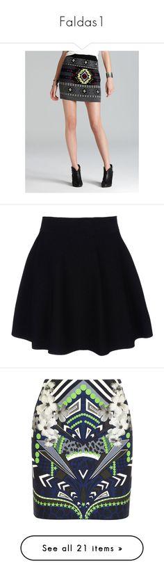 """Faldas1"" by caxipre ❤ liked on Polyvore featuring skirts, mini skirts, elastic waist mini skirt, jacquard skirt, long skirts, print skirt, elastic waist long skirts, bottoms, saias and faldas"